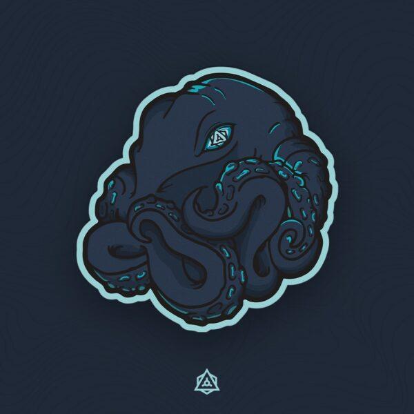 Kolkrabba Calm Depths Sticker